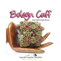 *P Cubic RAW Wide Cuff  Beading Pattern Boleyn Cuff by Studio183, $12.50
