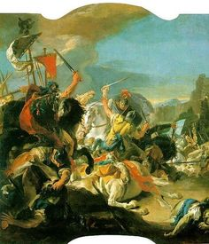 Oil painting reproduction: Giovanni Battista Tiepolo Battle Of Vercellae - Artisoo.com