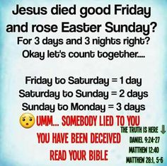 Read the Bible and study to show thyself approved! The Bible doesn't speak of Easter Sunday.