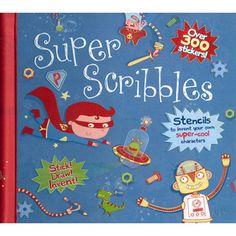 Super Scribbles Boys Doodle Book