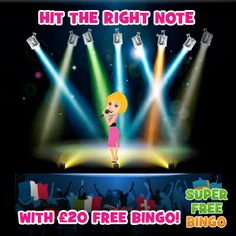 Our free bingo will leave you singing! Click http://www.superfreebingo.com/pinterest1 to see our brilliant bingo offers and grab over £20 free play at some of the best sites around!
