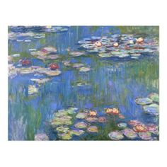 Shop for Claude Monet 'Water Lilies' Wrapped Canvas Art. Get free delivery On EVERYTHING* Overstock - Your Online Art Gallery Store! Claude Monet, Painting Prints, Fine Art Prints, Monet Paintings, Floral Paintings, Painting Flowers, Photo D Art, Pierre Auguste Renoir, Water Lilies