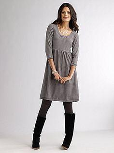 Empire Three-Quarter Sleeve Dress