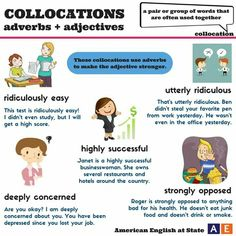 Collocations adverbs and adjectives