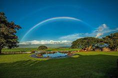 Rainbow!  A sunny/rainy day on Maui.  Photo by @Panaviz
