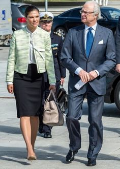 Crown Princess Victoria of Sweden and King Carl XVI Gustaf of Sweden attends the seminar of the Swedish Fresh Water Monitoring at the Swedish University on May 11, 2015 in Uppsala, Sweden.