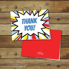 Printable superhero thank you notes
