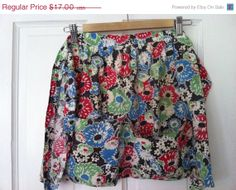 ON SALE Fun Floral Feedsack Apron by drcarrot on Etsy, $12.75
