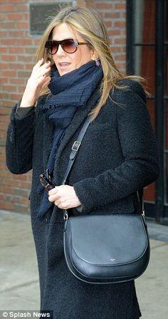 jennifer aniston slip dress outfit winter - Google Search