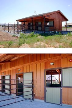 A beautiful and well designed three stall horse barn. By Equine Facility Design.