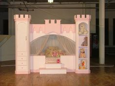 awesome space saving bunk bed ideas- especially like the castle bed with storage by leah