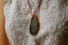 Vintage Druzy Agate Pendant