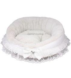 Designer Dog Bed My First Louis Dog Bed White