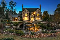 french country log homes estates - Google Search