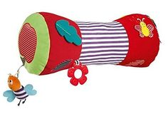 Houyue Baby Tummy Time Activity Toy Musical Barrel with S...