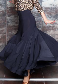 Chrisanne Tania Twist Ballroom Skirt | Dancesport Fashion @ DanceShopper.com