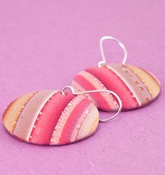 Domed Polymer Clay Earrings