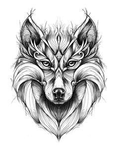 New Tattoo Wolf Geometric Wolves Drawings Ideas