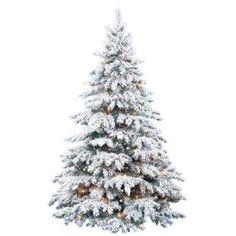 19 best Snow Flocked Christmas trees images on Pinterest   Christmas ...