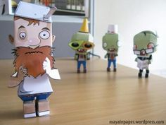 Crazy Dave Papertoy is my Plants Vs Zombies Papercraft Series, I designed this papertoy because i love Plants Vs Zombies and I'm Crazy . Crazy i really love Dave .because he's crazy . Zombie Birthday Parties, 5th Birthday Party Ideas, Zombie Party, 7th Birthday, Zombie Crafts, Geek Crafts, Balloon Decorations Party, Halloween Decorations, Legos