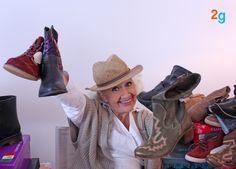Nuestra actriz Dinorah Huidobro estaba encantada con tanto calzado junto. Ya que, ¿A quién no le gustaría una lluvia de zapatos? Todo esto y mucho mas es posible con 2gether.es todo al alcance de un click.
