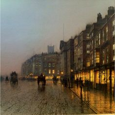 "John Atkinson Grimshaw ""Liverpool from Wapping"""