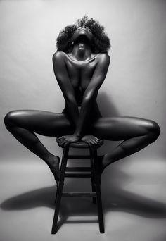 Black woman in nude art