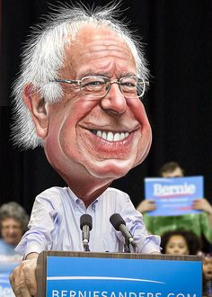 A TRUE man of and for the people. Bernie Sanders - Caricature | by DonkeyHotey