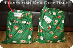 Christmas Eve gift bags - includes things to do with the family that day, and activities for the kids.