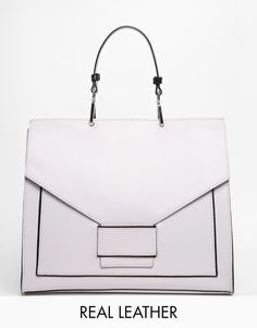 Image 1 of ASOS Everly Premium Leather Handheld Bag