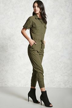 Buttoned Coverall Jumpsuit