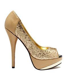 Baby Phat  Glam The golden touch Platform Heels @ Macy's