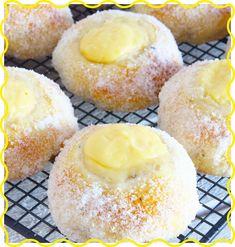 Citronsolskensbullar Doughnut, Hamburger, Cheesecake, Bread, Desserts, Sweets, God, Tailgate Desserts, Deserts