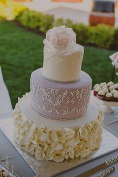 Wedding cake idea; Featured: Glass Slipper Gourmet