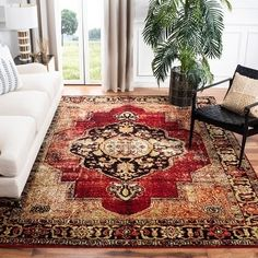 Shop Safavieh Vintage Distressed Boho Hamadan Hediye Oriental Rug - On Sale - Overstock - 12674038 - x - Red/Multi Oriental Pattern, Oriental Design, Oriental Rug, Oriental Style, Pacific Homes, Shops, Red Rugs, Natural Rug, Online Home Decor Stores