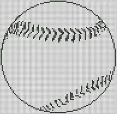 Free Online Cross Stitch Patterns   Baseball Cross Stitch Pattern Pattern: