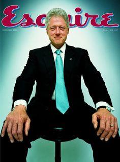 Esquire, December 2000 Photograph: Platon The ultimate Bill Clinton magazine cover!