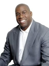 """15.) Earvin """"Magic"""" Johnson Jr. is a successful African American business owner. Born 8/14/1959 in Lansing, Michigan. a retired American professional basketball player who played point guard for the Los Angeles Lakers of the National Basketball Association (NBA). After winning championships in high school and college, Johnson was selected first overall in the 1979 NBA Draft by the Lakers. He helps with many HIV foundations.   http://en.wikipedia.org/wiki/Magic_Johnson"""
