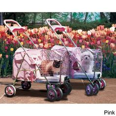 """Kittywalk Pet Strollers ~ Overstock*                                                 **Free Shipping with purchase of Kittywalk brand pet strollers.                                                                                                       Detachable carriers; strollers 37.5"""" H; weatherproof."""