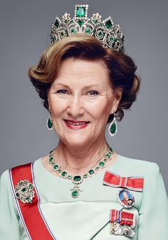 "royal-hair: "" New pictures of Queen Sonja of Norway on the occasion of King Harald V Silver Jubilee. Part 1 HD (x) """