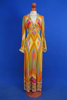 Long Gown, Leonard: 1960's, knit.