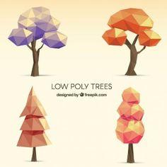 Low Poly Trees Set