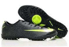 Nike Mercurial Vapor Superfly II TF Astro Turf Mens Soccer Cleats(Black Volt Dark Shadow)