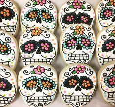 Dia de los Muertos Cookies by @cookiesbykatewi