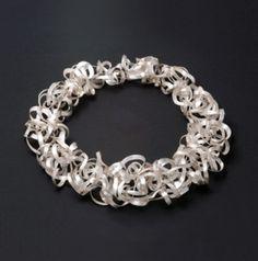 Necklace | Margot diCono.  Argentium Sterling silver.