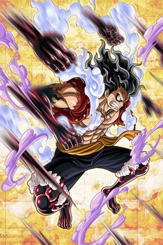 Such a cool fan art of Luffy and kaktakuri 🤩🤩🤩🔥🔥🔥. One Piece World, One Piece Ace, One Piece Luffy, Manga Anime One Piece, One Piece Fanart, One Piece Merchandise, Luffy Gear 4, Kaido One Piece, One Piece Wallpaper Iphone