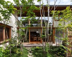 Small Courtyard Gardens, Small Courtyards, Courtyard House, Japanese Modern House, Small Japanese Garden, Morden House, Japan Garden, Modern Contemporary Homes, Architect House