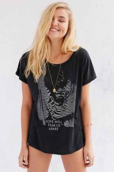 Joy Division Waves Tee - Urban Outfitters