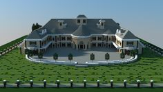 A mansion i made in minecraft.