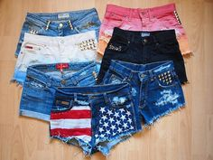 How to put lace on the pockets of your shorts.! The website is in French, but the pictures are pretty self explanatory. (: